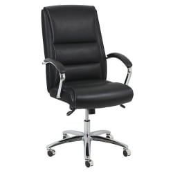 Realspace Morgan High Back Bonded Leather Chair