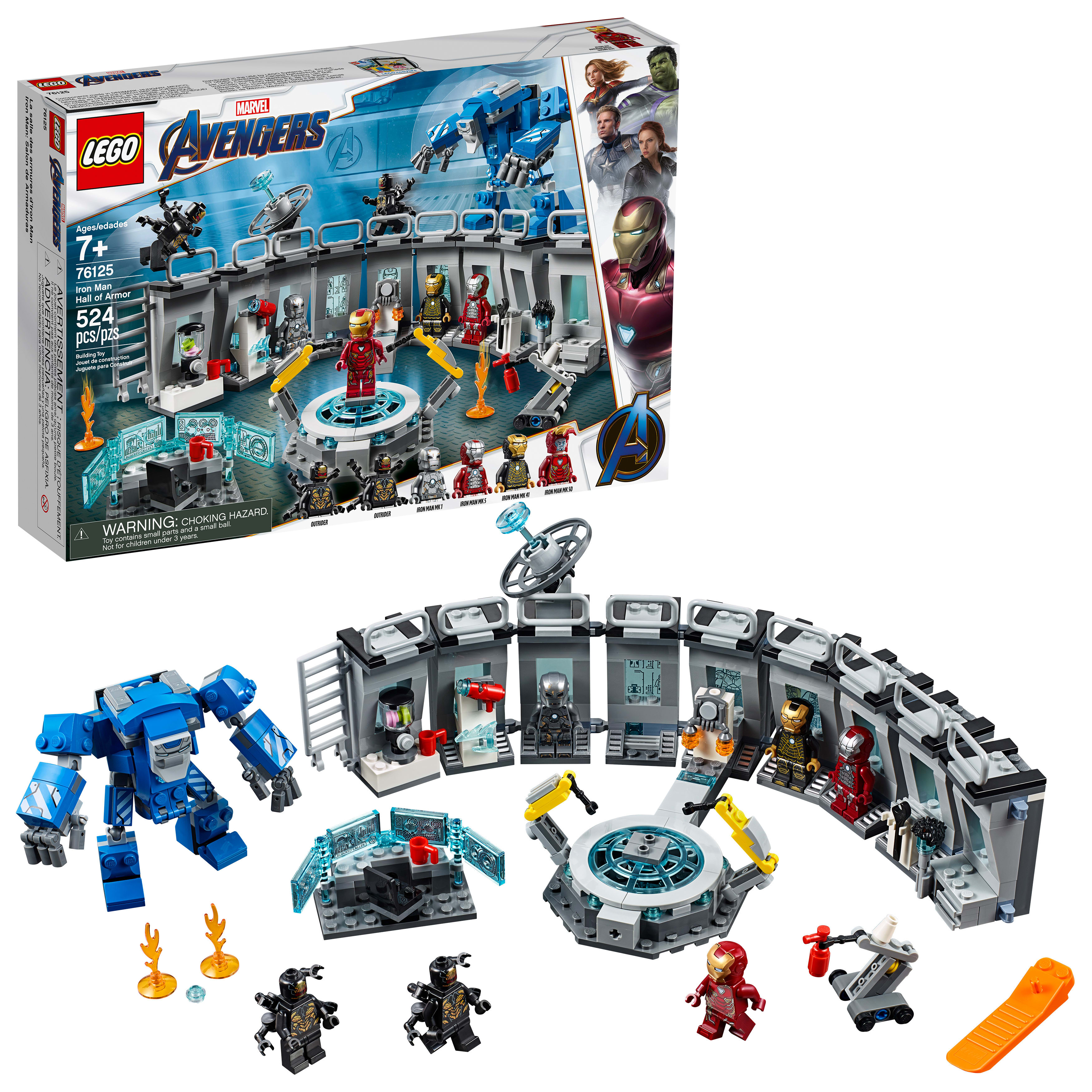 lego marvel avengers iron man hall of armor 76125 - HD3500×3500