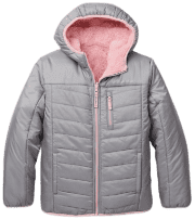 "Eddie Bauer Girls' Deer Harbor Reversible Hooded Jacket. Coupon code ""BGHARBOR"" cuts an extra $55 off, for a total of $73 off list and the lowest price we could find."