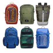 """Oakley Mystery Backpack. It's a mystery! Which one will you get? Apply code """"PZY95"""" to save a total of $65 off the list price."""