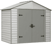 Arrow Group Viking 8ft. Vinyl-Coated Steel Storage Shed. It's $231 under what you'd pay at Walmart.