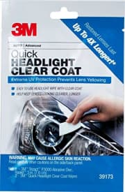 3M Quick Headlight Clear Coat Wipe. That's the best price we could find by a buck.