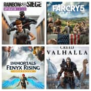 """Ubisoft Sale. Apply coupon code """"FORWARD"""" to save an extra $10 off $15 or more on a range of games already discounted up to 80% off. Titles include Assassin's Creed Valhalla, Tom Clancy's Rainbow Six Siege Deluxe Edition, Far Cry 5, and more."""