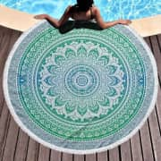 Large Round Microfiber Beach / Picnic Blanket. That's a savings of $21 off list price.