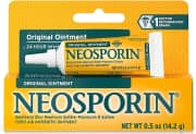 Neosporin Original First Aid Antibiotic Ointment 0.5-oz. Tube. That's the best price we could find by a buck.