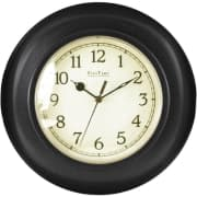 FirsTime Bronze Plastic Wall Clock for $4 + free shipping