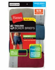 Hanes Men's Tagless Boxer Brief 5-Pack for $14 + free shipping
