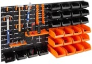 """Best Choice Products 44-Piece Wall Mounted Tool Storage Rack. Coupon code """"DAD8"""" cuts an extra $8 off for half off the list price."""