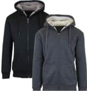 Men's & Women's Sherpa Lined Fleece Hoodie 2-Pack. For Amazon Prime members, the price drops to $20 in-cart. At $10 each, it's one of the best deals we've ever seen for this type of hoodie.