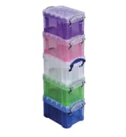 Really Useful Box Plastic Storage Container 5-Pack. It's a savings of $4 off list.