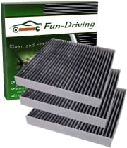"Fun Driving Cabin Air Filter 3-Pack for Toyota/Lexus/Land Rover/Pontiac. Save $7 off the list price when you apply coupon code ""31D6CUQG""."