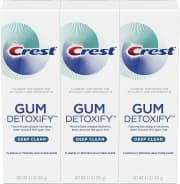 Crest Gum Detoxify Deep Clean Toothpaste 3-Pack. That's the best price we could find by $12.