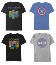 Black Friday Men's Graphic T-Shirt Deals at Belk. Choose from over 100 pop culture styles, then choose in-store pickup to bag an extra 15% off, rendering prices as low as $3.