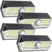 """Litom 100-LED Solar Motion Sensor Light 4-Pack. Apply coupon code """"IJA3VSOF"""" for a savings of $14."""