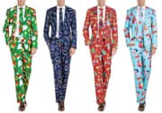 Braveman Men's Classic-Fit Christmas Suit with Tie. That's the lowest price we could find by $20.