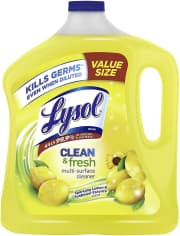 Lysol Clean & Fresh Multi-Surface Cleaner 90-oz. Bottle. This size is largely unavailable elsewhere, although the 32-oz. bottle goes for $2.50 mostly.