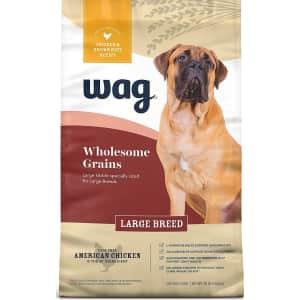 Wag Large Breed w/ Grains Dry Dog Food 30-lb. Bag for $16 via Sub. & Save