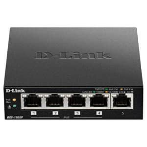 D-Link PoE Switch, 5 Port Ethernet Gigabit Unmanaged Desktop Switch with 4 PoE Ports 60W Budget for $80