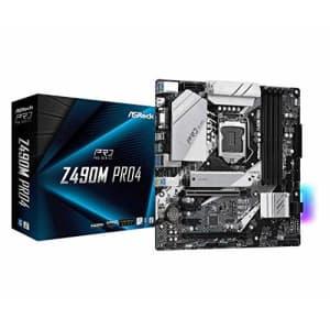 ASRock Z490M PRO4 Supports 10 th Gen Intel Core Processors (Socket 1200) Motherboard for $296