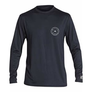 Billabong Men's Rotor Loose Fit Long Sleeve Rashguard, Black Heather, S for $36