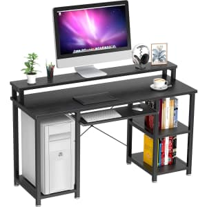 """Noblewell 47"""" Computer Desk with Monitor Stand for $55"""