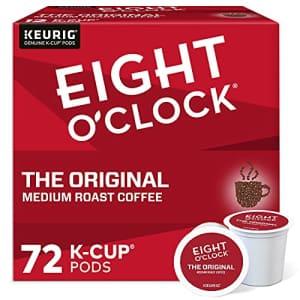 Eight O'Clock Coffee The Original, Single-Serve Keurig K-Cup Pods, Medium Roast Coffee Pods, 72 for $20