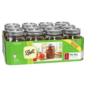 Ball 16-oz. Regular Mouth Mason Jar 12-Pack for $9