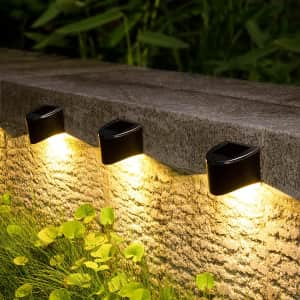 Gigalumi Solar Deck Lights 8-Pack for $15