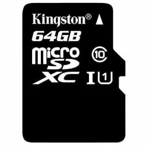 Kingston SDC10G2/64GB 64GB microSDXC memory card for $10