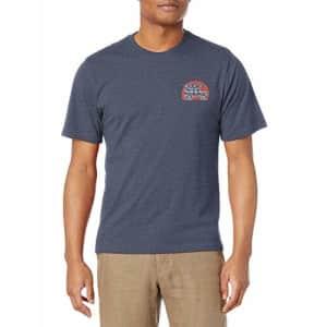 G.H. Bass & Co. Men's Short Sleeve Graphic Print T-Shirt, Mood Indigo Heather, Small for $13