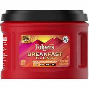 Folgers Breakfast Blend Mild Roast Ground Coffee, 21.6 Ounces (Pack of 3) for $17
