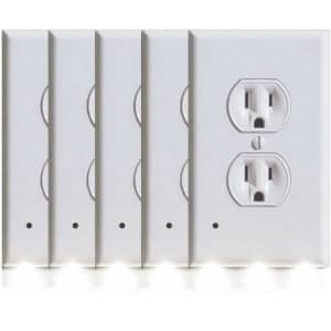 Marquee Home Outlet Cover w/ LED Night Light 5-Pack for $17