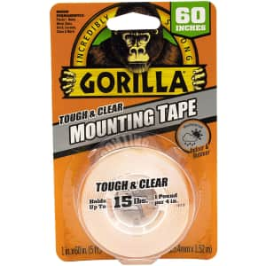 Gorilla Tough & Clear Double Sided Mounting Tape for $9