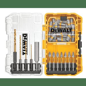 DeWalt 40-Piece Driving Bit and Black Oxide Drill Bit Set for $20