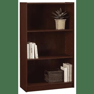 """Ameriwood Hayden 48"""" 3-Shelf Bookcase for $33"""