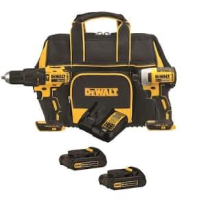 DeWalt 2-Tool 20-Volt Brushless Power Tool Combo Kit for $159