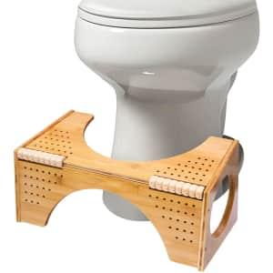 FLPLX Non-Slip Bamboo Toilet Potty Step Stool for $21