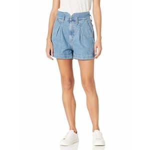 Levi's Women's High Waisted Mom Shorts, Puff Piece - Medium Indigo, 0 for $35