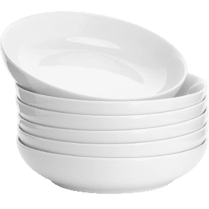 Sweese 6-Piece Porcelain Pasta Bowls for $34
