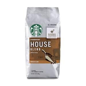 Starbucks Medium Roast Ground Coffee House Blend 100% Arabica 6 bags (12 oz. each) for $11