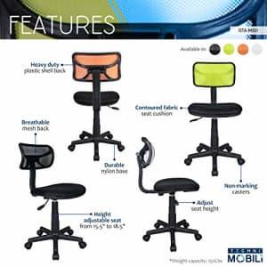 Techni Mobili Student Mesh Task Office Chair. Color: Orange for $56
