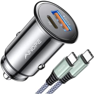 Ainope USB C Car Charger for $14