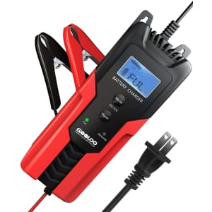 Gooloo 6/12V 6A Smart Battery Charger and Maintainer for $37