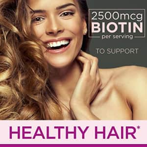 Hair Skin and Nails Vitamins with Biotin & Collagen by Nature's Bounty Optimal Solutions, w/Vitamin for $20