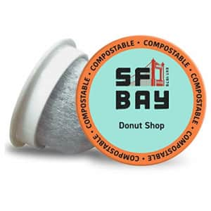SF Bay Coffee Donut Shop 12 Ct Light Roast Compostable Coffee Pods, K Cup Compatible including for $12