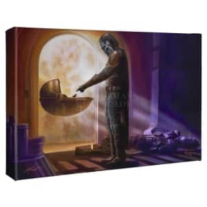 "Thomas Kinkade Studios Star Wars: The Mandalorian 10"" x 14"" Wrapped Canvas Wall Art for $50"