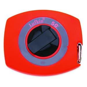 "Crescent Lufkin 3/8"" x 50' Hi-Viz Orange Universal Lightweight Yellow Clad Tape Measure - 50 for $49"