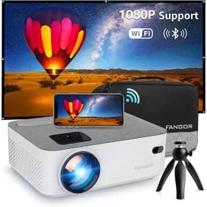 Fangor 720p Wireless Mini WiFi Projector for $130