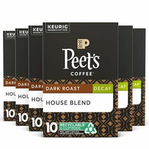 Peet's Peets Coffee Decaf House Blend K-Cup Coffee Pods for Keurig Brewers, Dark Roast, 60 Pods for $45