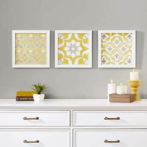 "Tuscan Tiles 12"" High 3-Piece Framed Wall Art Set for $40"